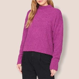 Sanctuary Hot Pink Nubby Sweater Size S